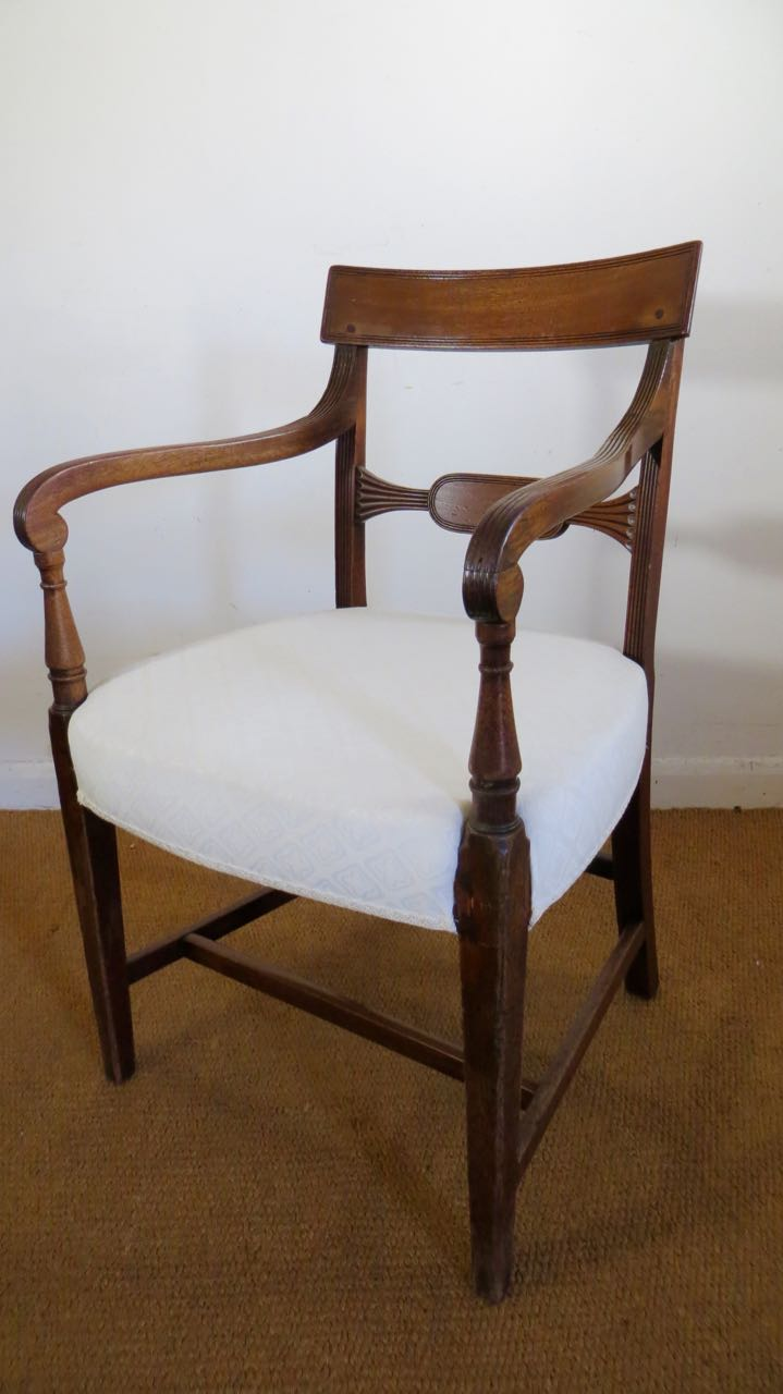 George 111 Mahogany elbow chair