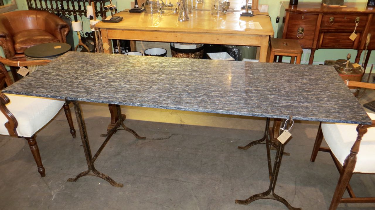 Picture of Stone top trestle table