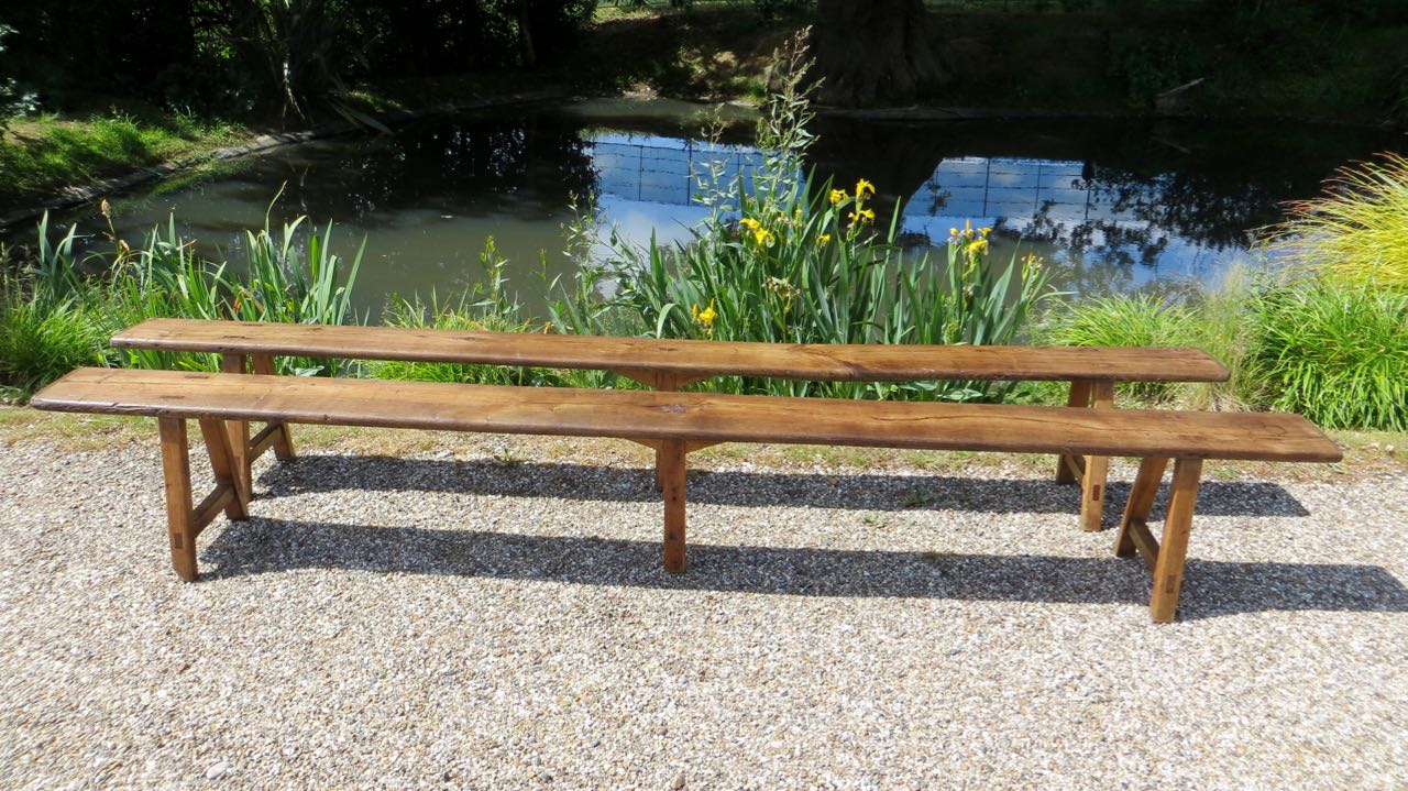 Picture of Pair of 3meter oak benches
