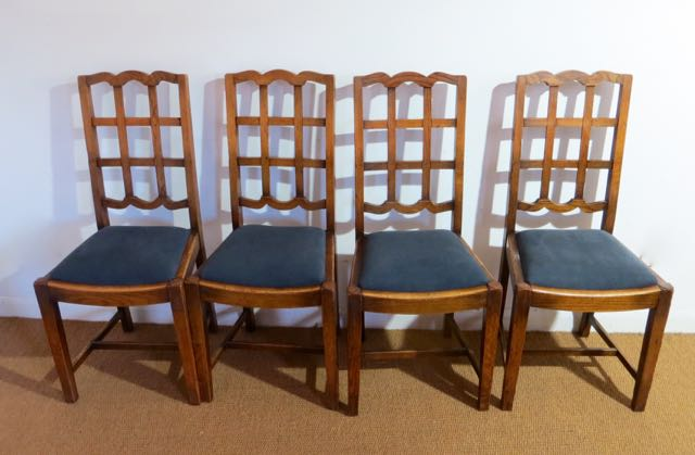 Picture of Set of four 1920s oak chairs