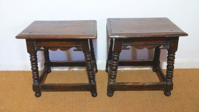Picture of A near pair of early 20th century joint stools