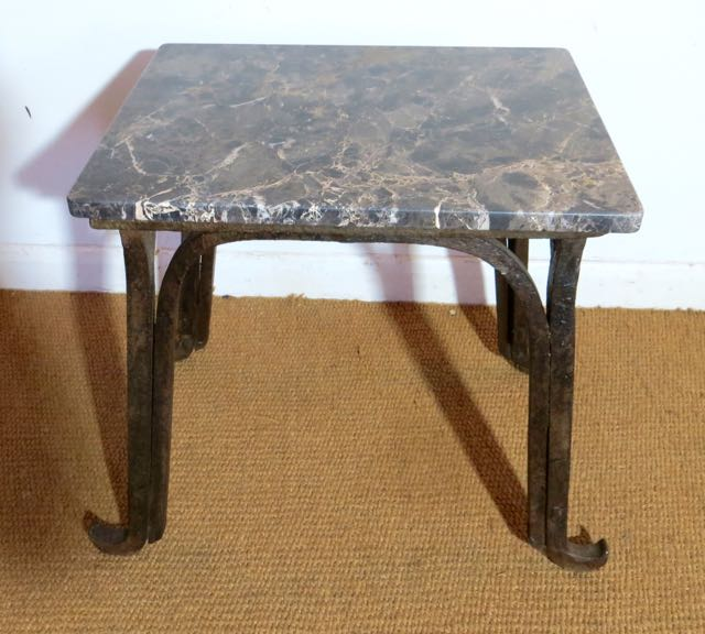 Picture of Small industrial work top with marble top