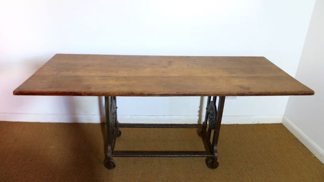 Picture of Old mangle base with oak top