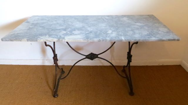 Bistro  table with Blue de Savoi marble top
