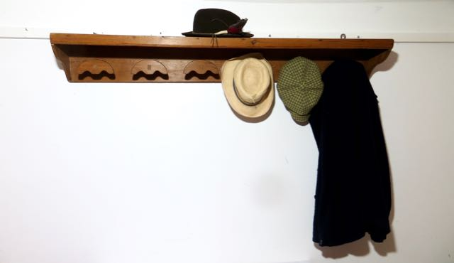 Picture of Old country house pine hat & coat shelf