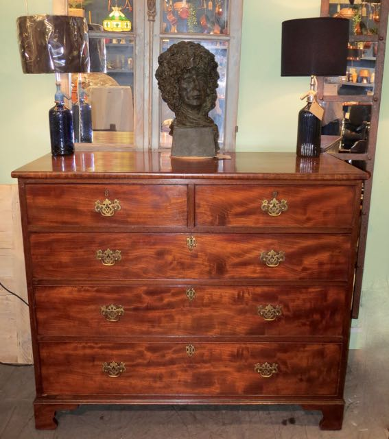 George 111 flamed mahogany chest of drawes.