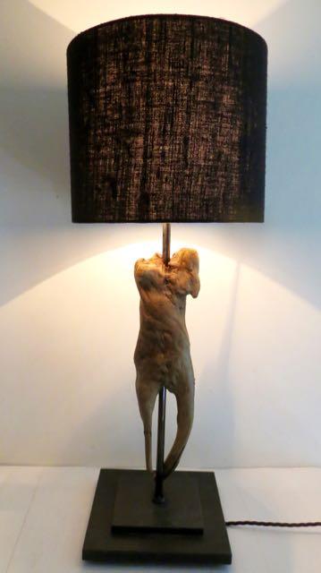 Driftwood lamp body