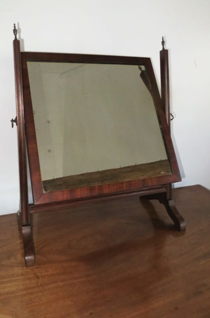 Picture of 19 th century mahogany swing mirror