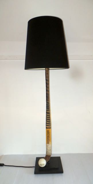 Old Hockey stick lamp