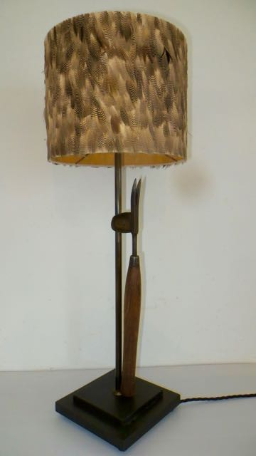 19th century daisy grabber Gardeners table lamp