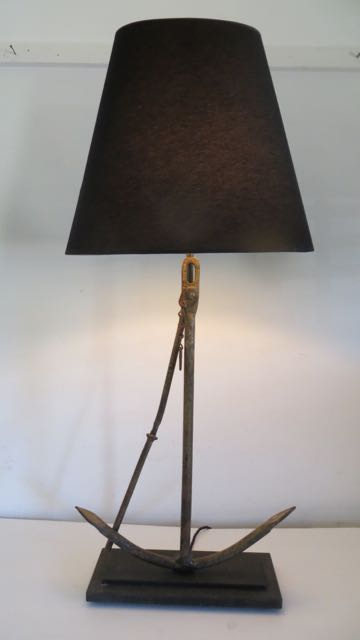 An old Fishermans anchor lamp