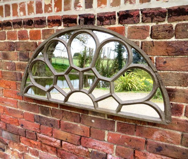 Victorian over door fan light mirror