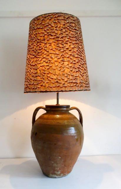 Olive pot lamp