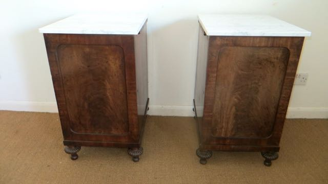 Pair of William 4th bed side tables