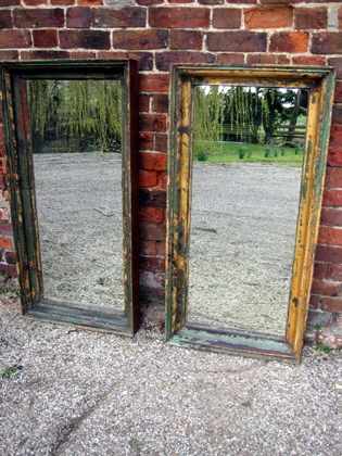 Pair of framed mirrors