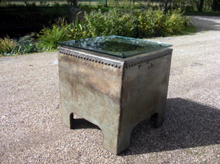 Picture of Galvanised Water Tank Lamp Table