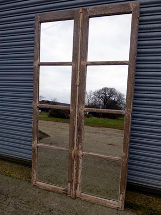 Picture of Large French oak window mirror