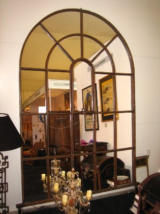 Picture of Large Victorian window mirror