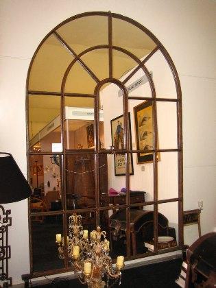 Large Victorian window mirror