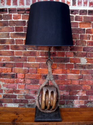 Picture of Large old sailing block lamp