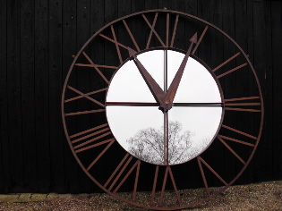 Large European church clock face