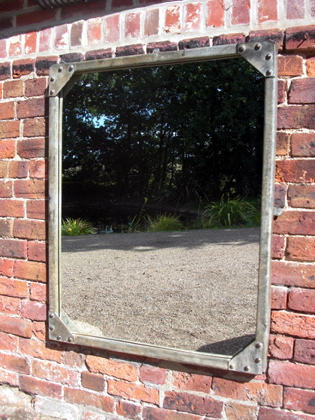 Picture of Large galvanised tank mirror