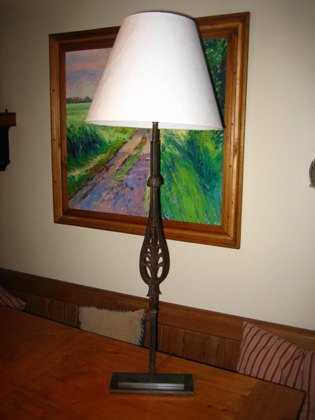 Picture of English Long & Thin reclaimed table lamps