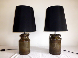 Picture of Pair of small milk churns