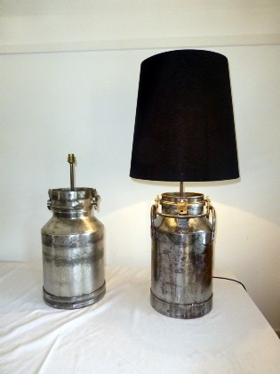 Picture of Pair of Polished French Milk Churns