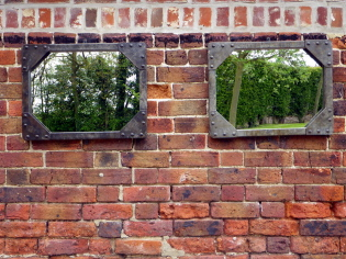 Pair of Galvanised old tank mirrors