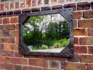 Picture of Galvanised tank mirror