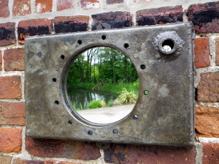 Galv port hole mirror