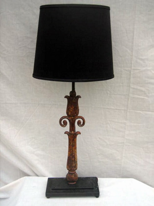 Off White Rusty Table Lamp