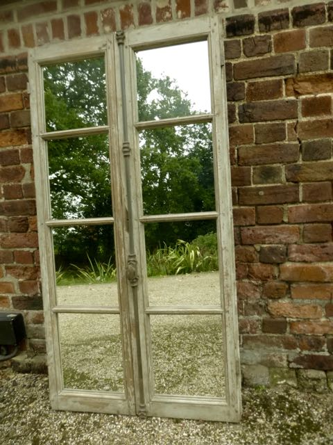 Picture of French grey window mirror
