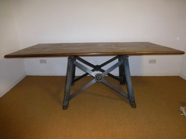 Picture of Blue Industrial table
