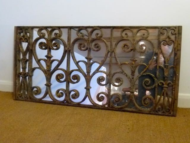 Picture of Rustic balustrade mirror