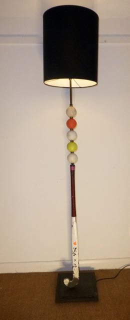 Hockey stick and ball lamp