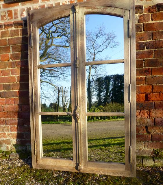 Picture of French oak window mirror