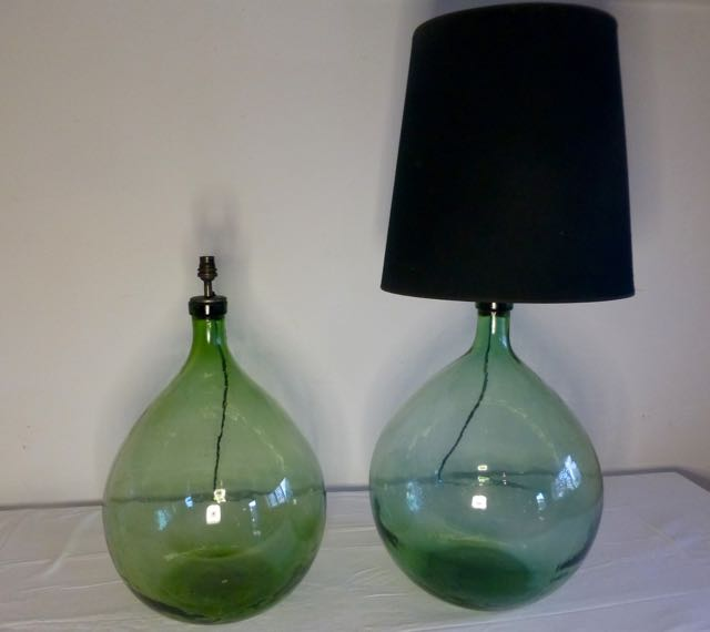 Picture of Green flagon table lamps