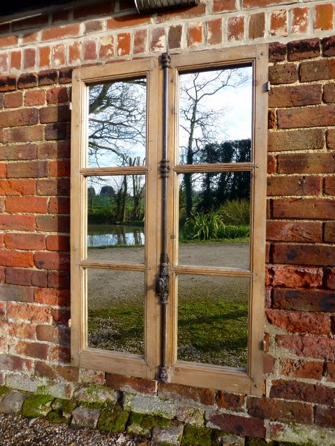 Picture of French oak window mirrr