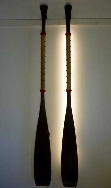 Pair of canoe LED paddles wall lights