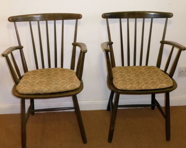 Picture of Pair of painted Ercol chairs