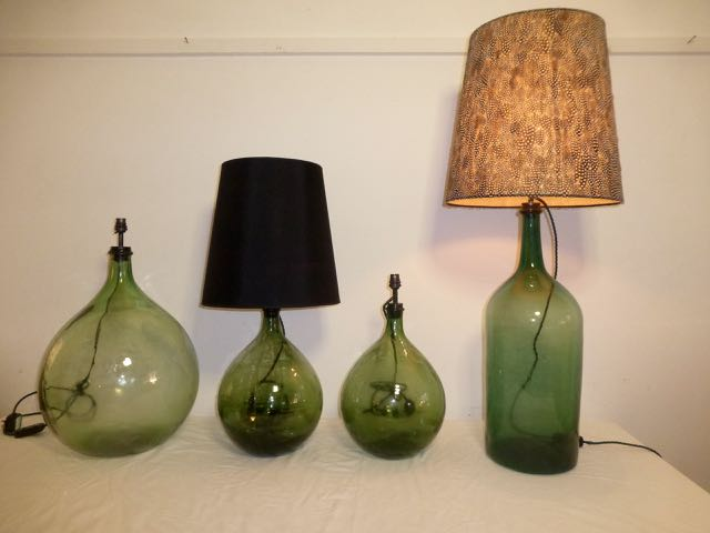 Picture of Collection of Green bottles