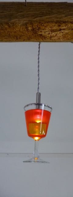 Picture of Orange and yellow Cocktail LED glass