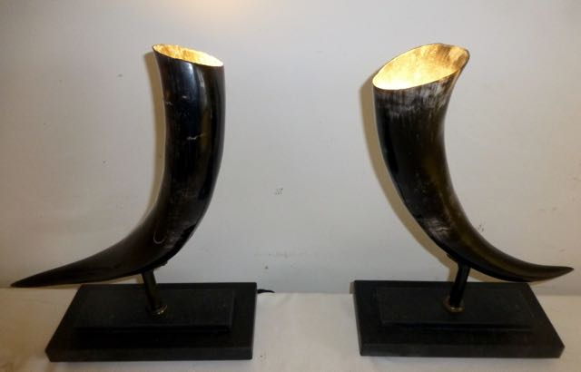 Picture of Black cow horn lighting