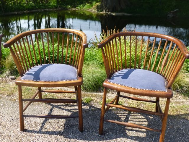 Picture of Pair of spindle back chairs