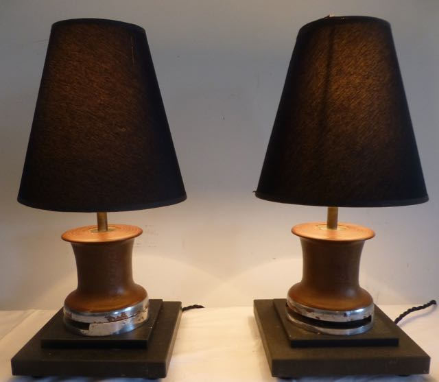 Picture of Pair of boat winches table lamps
