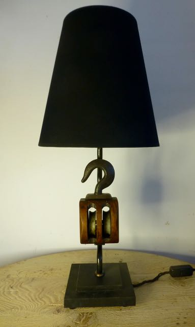 Picture of Single block table lamp