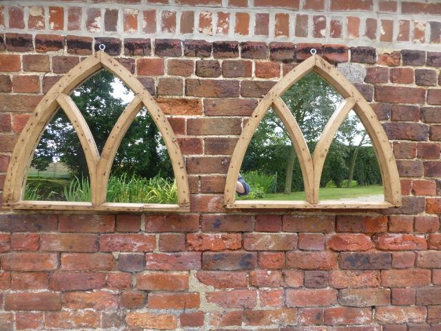 Picture of Pair of old pitch pine windows