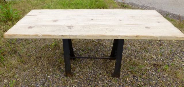 Picture of Industrial A framed table with oak top